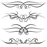 Set of vintage decorative curls, swirls, monograms and calligraphic borders Stock Image