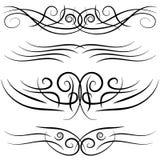 Set of vintage decorative curls, swirls, monograms and calligraphic borders. Stock Photos