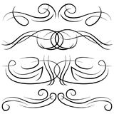 Set of vintage decorative curls, swirls, monograms and calligraphic borders Stock Images