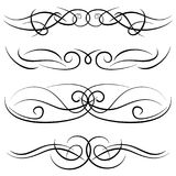 Set of vintage decorative curls, swirls, monograms and calligraphic borders Royalty Free Stock Photos