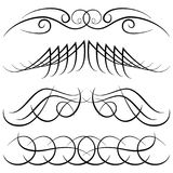 Set of vintage decorative curls, swirls, monograms and calligraphic borders Royalty Free Stock Images