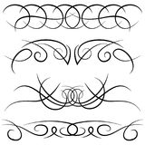 Set of vintage decorative curls, swirls, monograms and calligraphic borders Royalty Free Stock Image