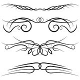 Set of vintage decorative curls, swirls, monograms and calligraphic borders. Royalty Free Stock Image
