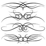 Set of vintage decorative curls, swirls, monograms and calligraphic borders. Line drawing design elements in black color on white background. Vector Royalty Free Stock Photo