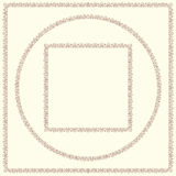 Set of vintage decorative frames. Stock Images
