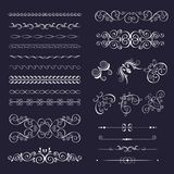 Set of vintage decorative frames. Borders, corner for design frameworks and banners. Can use for birthday card, wedding invitations Vector Illustration