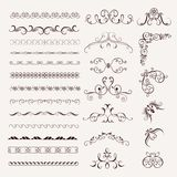 Set of vintage decorative frames Royalty Free Stock Images