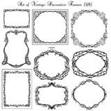 Set of vintage decorative frames Royalty Free Stock Photo