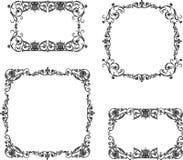 A set of the vintage decorative frames. Vector image of decorative frames in vintage style royalty free illustration