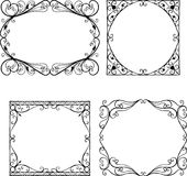 Set of the vintage decorative frames vector illustration