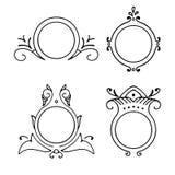 Set of vintage decorative vector frames Stock Photo