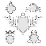 Set of vintage decorative vector frames Royalty Free Stock Photo