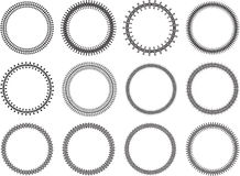 Set of 12 vintage decorative vector round frames for your design.  Stock Photos