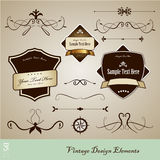 Set of vintage design elements. Royalty Free Stock Images