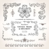 Set of vintage design elements Stock Image