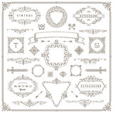 Set of vintage design elements Royalty Free Stock Photo