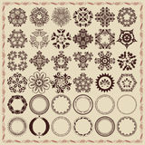 Set of vintage design elements and frames. Stock Photography