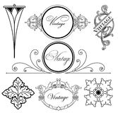 Set vintage design elements. Vector Royalty Free Stock Photos