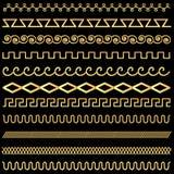 Set of vintage designs of gold Stock Images