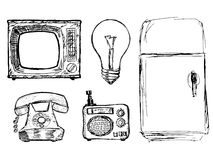 Set of vintage domestic technique Royalty Free Stock Photography