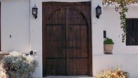 Set of vintage doors. Mediterranean style stock video footage