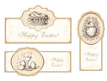 Set of vintage easter labels Royalty Free Stock Photography