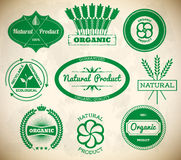 Set of vintage eco labels. Collection 1 Royalty Free Stock Photos