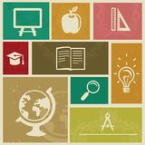 Set with vintage education labels Royalty Free Stock Photography