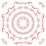 Set of vintage elements and frames. Royalty Free Stock Images