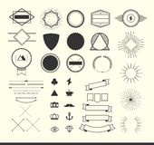 Set of vintage elements for making logos, badges and labels Royalty Free Stock Photo