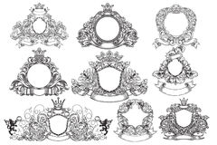 Set of vintage emblems Royalty Free Stock Photo