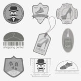 Set of vintage fashion and clothes style logos. Vector logo temp Stock Image