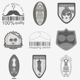 Set of vintage fashion and clothes style logos. Vector logo temp Stock Photography