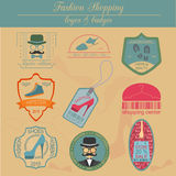 Set of vintage fashion and clothes style logos. Vector logo royalty free illustration