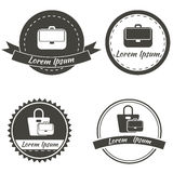 Set of vintage fashionably emblems, bags logo Royalty Free Stock Photography