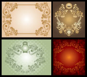 Set of Vintage Floral Frame Stock Photo