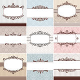 Set of vintage floral frame Royalty Free Stock Image