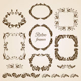 Set of vintage floral frames Royalty Free Stock Images