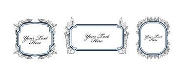 Set of vintage floral labels Stock Image