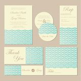 Set of vintage floral wedding invitation cards Royalty Free Stock Photography