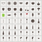 Set of vintage food and drink icons Stock Images