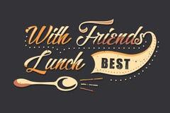 Set of Vintage Food Typographic Quotes Stock Photo