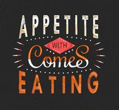 Set of Vintage Food Typographic Quotes. Vector illustration. Vintage food related typographic quotes Royalty Free Stock Photos