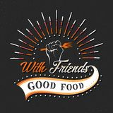 Set of Vintage Food Typographic Quotes. Vector illustration. Vintage food related typographic quotes Royalty Free Stock Photography
