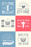 Set of Vintage Food Typographic Quotes Royalty Free Stock Image