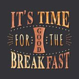 Set of Vintage Food Typographic Quotes Stock Photography