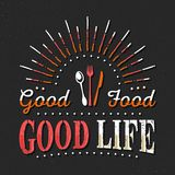Set of Vintage Food Typographic Quotes. Vector illustration. Vintage food related typographic quotes Stock Image