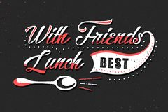 Set of Vintage Food Typographic Quotes. Vector illustration. Vintage food related typographic quotes Stock Photography