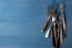 Set of vintage forks Stock Photos