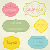 Set  vintage frame with buttons and flowers Stock Photos